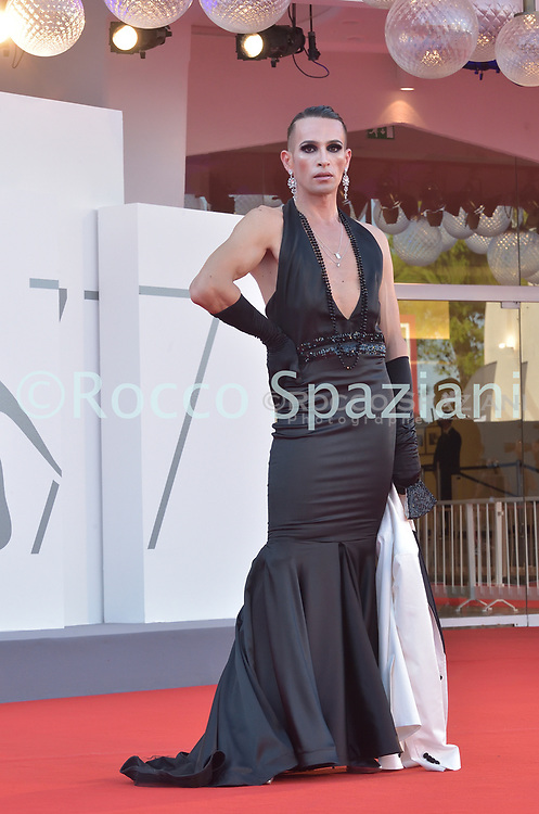 VENICE, ITALY - SEPTEMBER 12: Guest    walk the red carpet ahead of closing ceremony at the 77th Venice Film Festival on September 12, 2020 in Venice, Italy.<br /> (Photo by Rocco Spaziani)