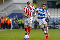 March 9, 2019 - London, England, United Kingdom - Stoke City's James McClean is challenged by Queens Park Rangers Jordan Cousins during the second half of the Sky Bet Championship match between Queens Park Rangers and Stoke City at Loftus Road Stadium, London on Saturday 9th March 2019. (Credit Image: © Mi News/NurPhoto via ZUMA Press)