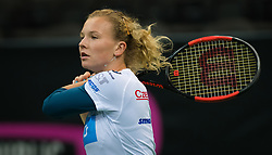 November 8, 2018 - Prague, Czech Republic - Katerina Siniakova of the Czech Republic during practice ahead of the 2018 Fed Cup Final between the Czech Republic and the United States of America (Credit Image: © AFP7 via ZUMA Wire)