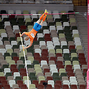 TOKYO, JAPAN August 3:    Menno Vloon of the Netherlands in action during the Pole Vault Final for Men at the Olympic Stadium during the Tokyo 2020 Summer Olympic Games on August 3rd, 2021 in Tokyo, Japan. (Photo by Tim Clayton/Corbis via Getty Images)