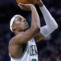 06 March 2012: Boston Celtics small forward Paul Pierce (34) is seen at the free throw line during the Boston Celtics 97-92 (OT) victory over the Houston Rockets at the TD Garden, Boston, Massachusetts, USA.