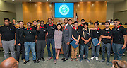 The Houston Knights chess team is recognized during the Houston ISD Board of Trustees meeting, May 14, 2015.