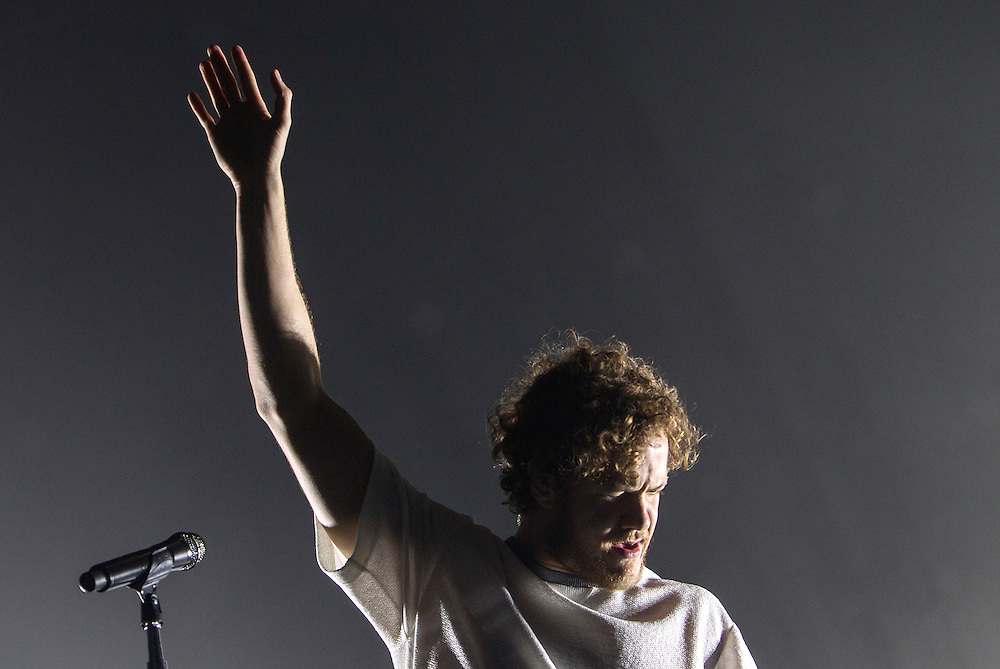 Dan Reynolds performs with Imagine Dragons at Xcel Energy Center in St. Paul June 9, 2015.