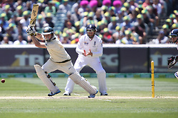 © Licensed to London News Pictures. 29/12/2013. Chris Rogers batting during Day 4 of the Ashes Boxing Day Test Match between Australia Vs England at the MCG on 29 December, 2013 in Melbourne, Australia. Photo credit : Asanka Brendon Ratnayake/LNP
