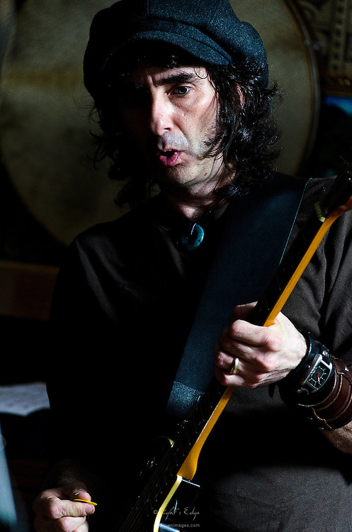 Johnny Marchiano of The Peace Creeps perfoming at The Bus Stop Music Cafe.