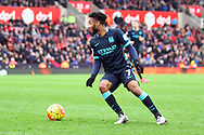 Raheem Sterling of Manchester City in action. Barclays Premier league match, Stoke city v Manchester city at the Britannia Stadium in Stoke on Trent, Staffs on Saturday 5th December 2015.<br /> pic by Chris Stading, Andrew Orchard sports photography.