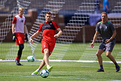 ANN ARBOR, USA - Friday, July 27, 2018: Liverpool's James Milner during a training session ahead of the preseason International Champions Cup match between Manchester United FC and Liverpool FC at the Michigan Stadium. (Pic by David Rawcliffe/Propaganda)
