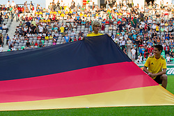 Flag of Germany during the UEFA European Under-17 Championship Group A match between Germany and France on May 10, 2012 in SRC Stozice, Ljubljana, Slovenia. (Photo by Vid Ponikvar / Sportida.com)