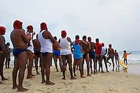 Inde, Etat du Kerala, Kovalam, la plage, maitre nageur // India, Kerala state, Kovalam, beach, safeguards