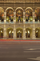 Vienna state opera house facade night illuminated