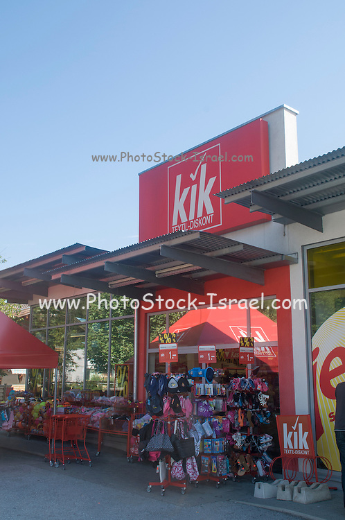 Kik Discount store. Photographed in Austria