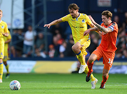 Edward Upson of Bristol Rovers battles for the ball with Glen Rea of Luton Town - Mandatory by-line: Alex James/JMP - 15/09/2018 - FOOTBALL - Kenilworth Road - Luton, England - Luton Town v Bristol Rovers - Sky Bet League One