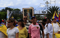 June 17, 2017 - San Diego, Carabobo, Venezuela - The march for peace took place in San Diego municipality, leaving four different places, in procession, carrying various images of the Catholic Church, until arriving at the sports field of the town, in San Diego, Carabobo state. Photo: Juan Carlos Hernandez (Credit Image: © Juan Carlos Hernandez via ZUMA Wire)