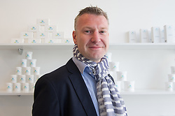 © London News Pictures. 15/05/15. London, UK. Michal Takac, MD of Carun UK is photographed in the UK's first cannabis pharmacy, Twickenham, West London. Carun UK, which will be based in Twickenham, London, aims to 'harness the healing super-powers of hemp' which is claims is the 'ultimate skin saviour and well-being booster'.<br /> Photo credit: Laura Lean/LNP