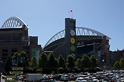 Aug 25, 2017; Seattle, WA, USA; General overall view of CenturyLink Field during a NFL football game between the Seattle Seahawks and the Kansas City Chiefs.