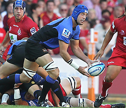 Action during the Super 15 match between the Queensland Reds and the Western Force. Half time (Force -12) leading the (Reds - 6)...Played at Lang Park, Brisbane (20 February 2011)...Photo: SMP IMAGES (Warren Keir)/SPORTZPICS.