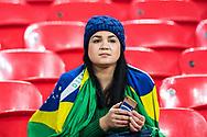 brazilian fan during the International Friendly match between England and Brazil at Wembley Stadium, London, England on 14 November 2017. Photo by Sebastian Frej.