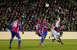 Romelu Lukaku of Manchester United tries an overhead kick - Mandatory by-line: Robbie Stephenson/JMP - 22/11/2017 - FOOTBALL - St Jakob-Park - Basel,  - FC Basel v Manchester United - UEFA Champions League Group A