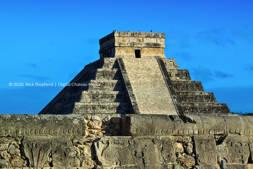 Mayan Pyramid at Chichen Itza, Yucatan, Mexico.