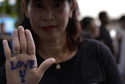 July 7, 2017 - Bangkok, Thailand - Supporters of ousted former Thai Prime Minister Yingluck Shinawatra waiting for her arrival at the Supreme Court in Bangkok, Thailand July 7, 2017. (Credit Image: © Anusak Laowilas/NurPhoto via ZUMA Press)