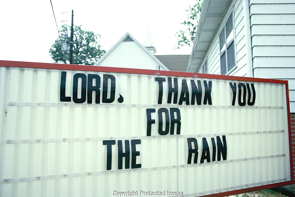 Thanks from a church in rural Delaware for much needed rain<br />Photo by Dennis Brack