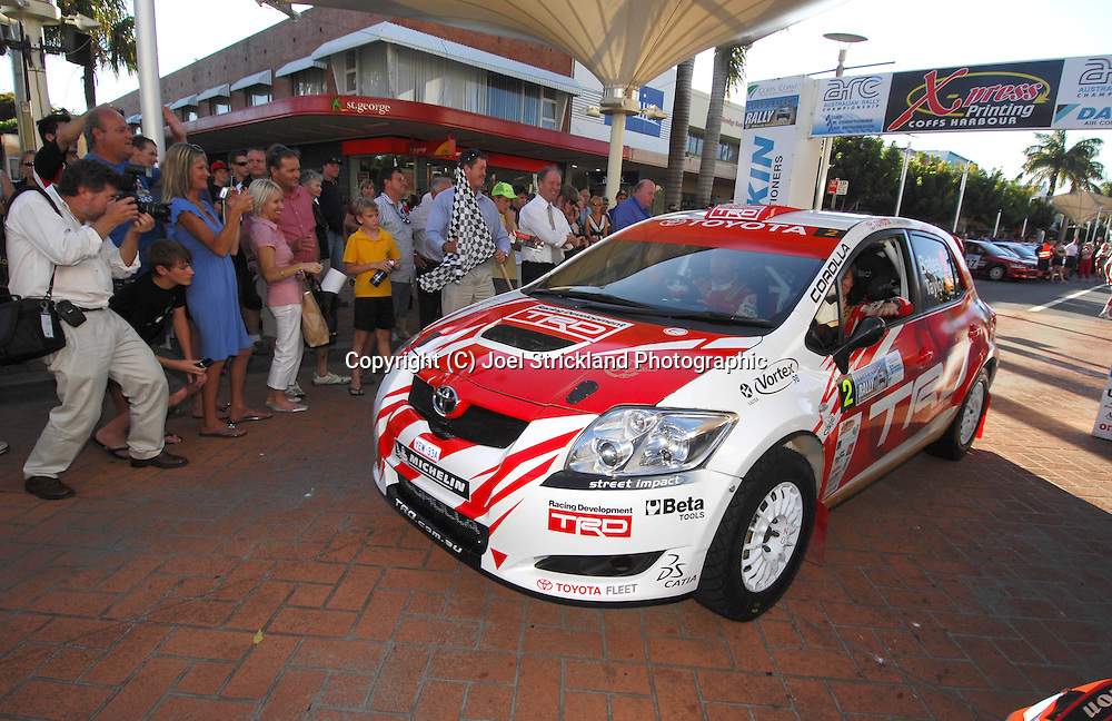 Neal Bates & Coral Taylor.Motorsport-Rally/2008 Coffs Coast Rally.Offical Start, City Centre .Coffs Harbour, NSW.14th of November 2008.(C) Joel Strickland Photographics