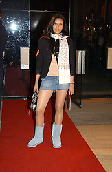 PADMA LAKSHMI wife of Salman Rushdie at the return of Dralion to celebrate the Cirque Du Soleil's 20th Anniversary at the Royal Albert Hall, London on 6th January 2005.<br /><br />NON EXCLUSIVE - WORLD RIGHTS