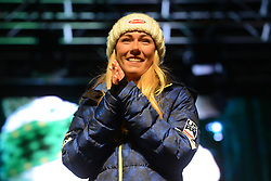 November 23, 2018 - Killington, Vermont, United States - MIKAELA SHIFFRIN of the United States at the bib draw ceremony before the Killington Cup ski races. (Credit Image: © Christopher Levy/ZUMA Wire)