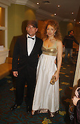 Christian Slater and Alex Kingston. Laurence Oliver Awards, Hilton Hotel. 26 February 2006. ONE TIME USE ONLY - DO NOT ARCHIVE  © Copyright Photograph by Dafydd Jones 66 Stockwell Park Rd. London SW9 0DA Tel 020 7733 0108 www.dafjones.com
