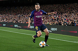 January 30, 2019 - Barcelona, Spain - Jordi Alba during the match between FC Barcelona and Sevilla FC, corresponding to the secong leg of the 1/4 final of the spanish cup, played at the Camp Nou Stadium, on 30th January 2019, in Barcelona, Spain. Photo: Joan Valls/Urbanandsport /NurPhoto. (Credit Image: © Joan Valls/NurPhoto via ZUMA Press)