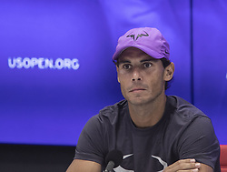 September 8, 2019, Flushing Meadows, New York, United States of America: Rafael Nadal attends a press conference after winning the Men Singles Finals match against Daniil Medvedev on Day 14 of the 2019 US Open at USTA Billie Jean King National Tennis Center on Sunday September 8, 2019 in the Flushing neighborhood of the Queens borough of New York City. Nadal defeats Medvedev, 7-5, 6-3, 5-7, 4-6, 6-4. JAVIER ROJAS/PI (Credit Image: © Prensa Internacional via ZUMA Wire)