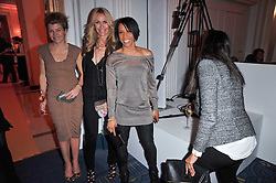 Left to right, AMBER AIKENS, MELISSA ODABASH and DAME KELLY HOLMES at the 38th Veuve Clicquot Business Woman Award held at Claridge's, Brook Street, London W1 on 28th March 2011.
