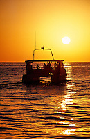 Boat off Playa Solmar on the Pacific Ocean side of Cabo San Lucas, Baja California, Mexico