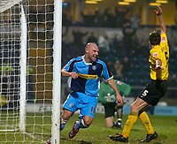 Photo: Alan Crowhurst.<br />Wycombe Wanderers v Rochdale. Coca Cola League 2.<br />10/12/2005. <br />Tommy Mooney (L) celebrates his second goal for Wycombe.