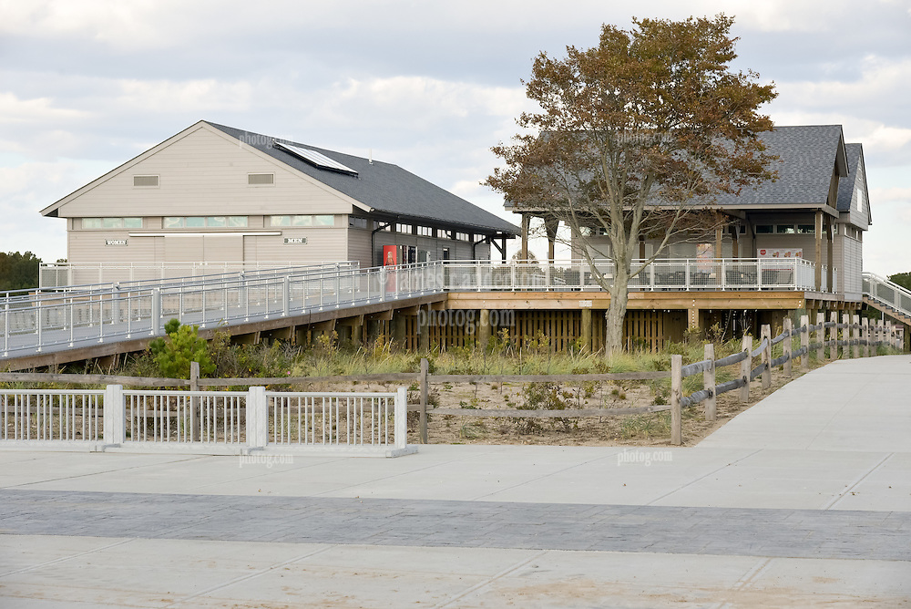 A Late Afternoon in October at Hammonasset Beach State Park, Connecticut. West Beach Pavilion.