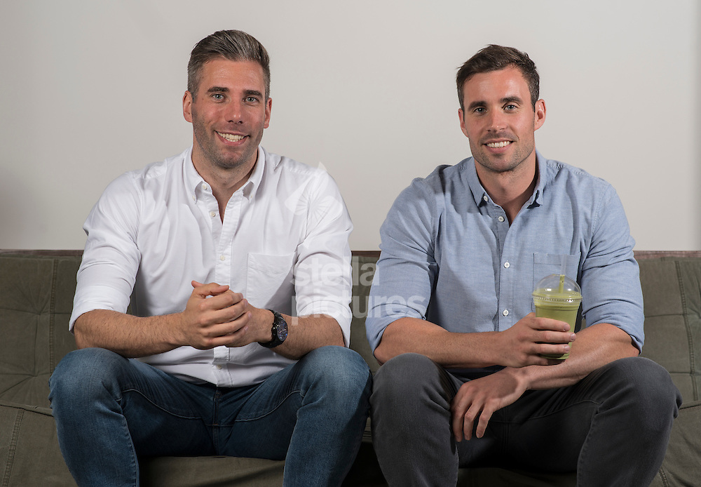 Former GB swimmers, Lee Forster and Charlie Turner (blue shirt) founders of Neat Nutrition. <br /> Picture by Daniel Hambury/Stella Pictures Ltd +44 7813 022858<br /> 14/07/2016