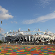 The Olympic Stadium at Olympic Park, Stratford during the London 2012 Olympic games preparation.  London, UK. 20th July 2012. Photo Tim Clayton