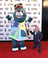 """Moley and Warwick Davis at the """"Moley"""" premiere, Leicester Square, London, Location, London, UK - 25 Sep 2021 photo by Roger Alacron"""