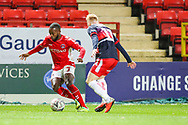 Charlton Athletic midfielder Mark Marshall (7) and Doncaster Rovers midfielder Ali Crawford (11) during the The FA Cup 2nd round match between Charlton Athletic and Doncaster Rovers at The Valley, London, England on 1 December 2018. Photo by Toyin Oshodi