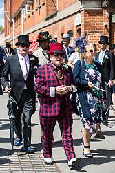 Ascot, UK. 20 June, 2019. Racegoers wearing morning dress, fancy hats and fascinators attend Ladies Day at Royal Ascot.