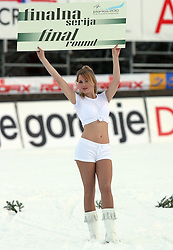 """""""Final round"""" girl at e.on Ruhrgas FIS World Cup Ski Jumping on K215 ski flying hill, on March 14, 2008 in Planica, Slovenia . (Photo by Vid Ponikvar / Sportal Images)./ Sportida)"""