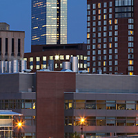 """Cambridge skyline photography at twilight showing landmarks such as Biotech giant Biogen Idec, Marriott Hotel, John Hancock building in Boston. Cambridge is a unique community with a strong mix of culture, demographic and social diversity, intellectual vitality and cutting-edge technological innovation. Cambridge is a major hub for leading biotechnology companies. It is one of the world's most important centers for biotech research, not only because it is a great place to live, work and to enjoy a diverse array of cultural activities, but also because it has access to an unmatched pool of talent and a wealth of institutional resources from its world-renowned educational institutions, Harvard University and the Massachusetts Institute of Technology (MIT). For biotechnology, it is """"the place to be.""""<br /> <br /> This Cambridge, MA photography picture of the Biogen Idec headquarter is available as museum quality photography prints, canvas prints, acrylic prints or metal prints. Prints may be framed and matted to the individual liking and wall decoration needs:<br /> <br /> http://juergen-roth.artistwebsites.com/featured/biogen-idec-in-cambridge-juergen-roth.html<br /> <br /> Good light and happy photo making!<br /> <br /> My best,<br /> <br /> Juergen<br /> http://www.exploringthelight.com<br /> http://www.rothgalleries.com<br /> @NatureFineArt<br /> http://whereintheworldisjuergen.blogspot.com/<br /> https://www.facebook.com/naturefineart"""