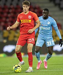 Ivan Mesik (FC Nordsjælland) under kampen i 3F Superligaen mellem FC Nordsjælland og Randers FC den 19. oktober 2020 i Right to Dream Park, Farum (Foto: Claus Birch).