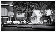 """Henley on Thames,  GREAT BRITAIN, 3rd July 2014, Umpires Launch's, moored during the Luncheon Interval,  175th  Henley Royal Regatta, Henley Reach. England.  """"Film Noir Style Photography"""", © Peter SPURRIER,"""