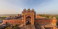 Aerial view of Fatehpur Sikri old town, India