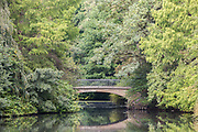 A view of a bridge over Tiergarten gewässer in Berlin, Germany, September 23, 2016.
