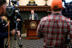 Brian Abernathy, Managing Director for the City of Philadelphia provides an update during a March 6, 2020 City Hall Philadelphia, PA press conference on COVID-19, Coronavirus after Governor Tom Wolf signed an emergency declaration after two cases were confirmed in Pennsylvania.