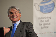 Andrew Mitchell MP, Development secretary speaking at the Tea time for change event. Refreshing the call for justice. Organised by the UK's leading NGO's.  Enabling constituents to dicuss the subject with their MP.