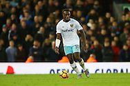 Michail Antonio of West Ham United in action. Premier League match, Liverpool v West Ham Utd at the Anfield stadium in Liverpool, Merseyside on Sunday 11th December 2016.<br /> pic by Chris Stading, Andrew Orchard sports photography.