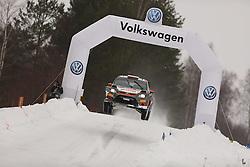 13.02.2015, Karlstad, Karlstad, SWE, FIA, WRC, Schweden Rallye, im Bild Robert Kubica/Maciej Szczepaniak (RK M-Sport WRT/Fiesta RS WRC) // during the WRC Sweden Rallye at the Raga in Karlstad in Karlstad, Sweden on 2015/02/13. EXPA Pictures © 2015, PhotoCredit: EXPA/ Eibner-Pressefoto/ Bermel<br /> <br /> *****ATTENTION - OUT of GER*****